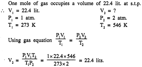 New Simplified Chemistry Class 9 ICSE Solutions - Study of The First Element - Study of Gas Laws 4