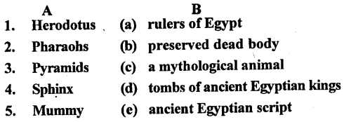 ICSE Solutions for Class 6 History and Civics - The Egyptain Civilization