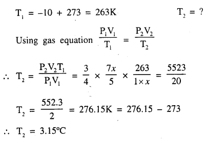 New Simplified Chemistry Class 9 ICSE Solutions - Study of The First Element - Study of Gas Laws 6.4