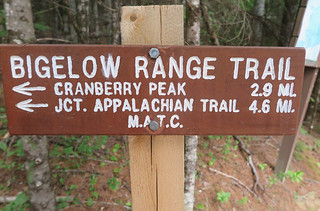 Bigelow Range Trail Sign