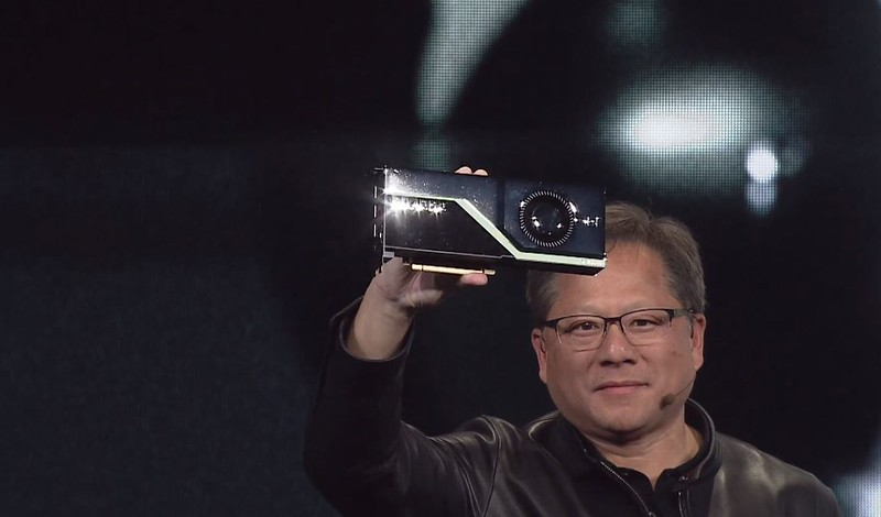 NVIDIA CEO Jensen Huang announces the Quadro RTX GPU