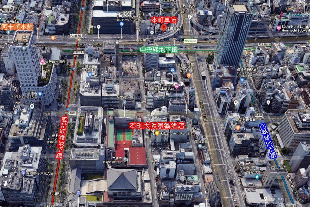 Osaka View Hotel Honmachi Map 1