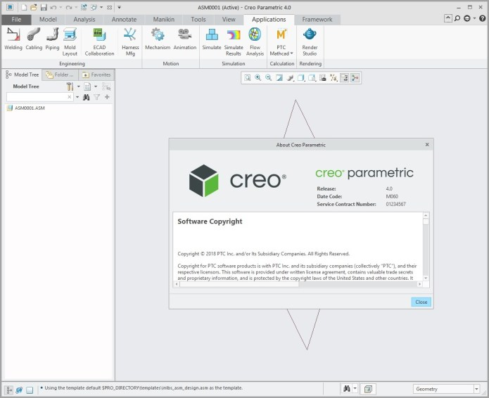 Working with PTC Creo parametric 4.0 M060 full