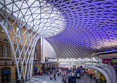 St Pancras train station, London