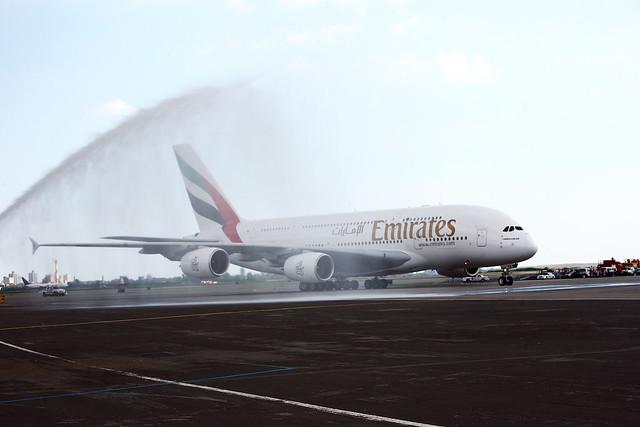 First Emirates A380 flight