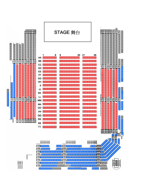 CLC LIVE SHOW IN HONG KONG 2018 - BLACK DRESS - Seating Plan