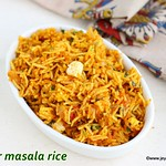Paneer masala rice