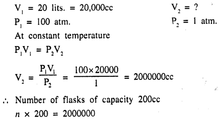 New Simplified Chemistry Class 9 ICSE Solutions - Study of The First Element - Study of Gas Laws 5.2