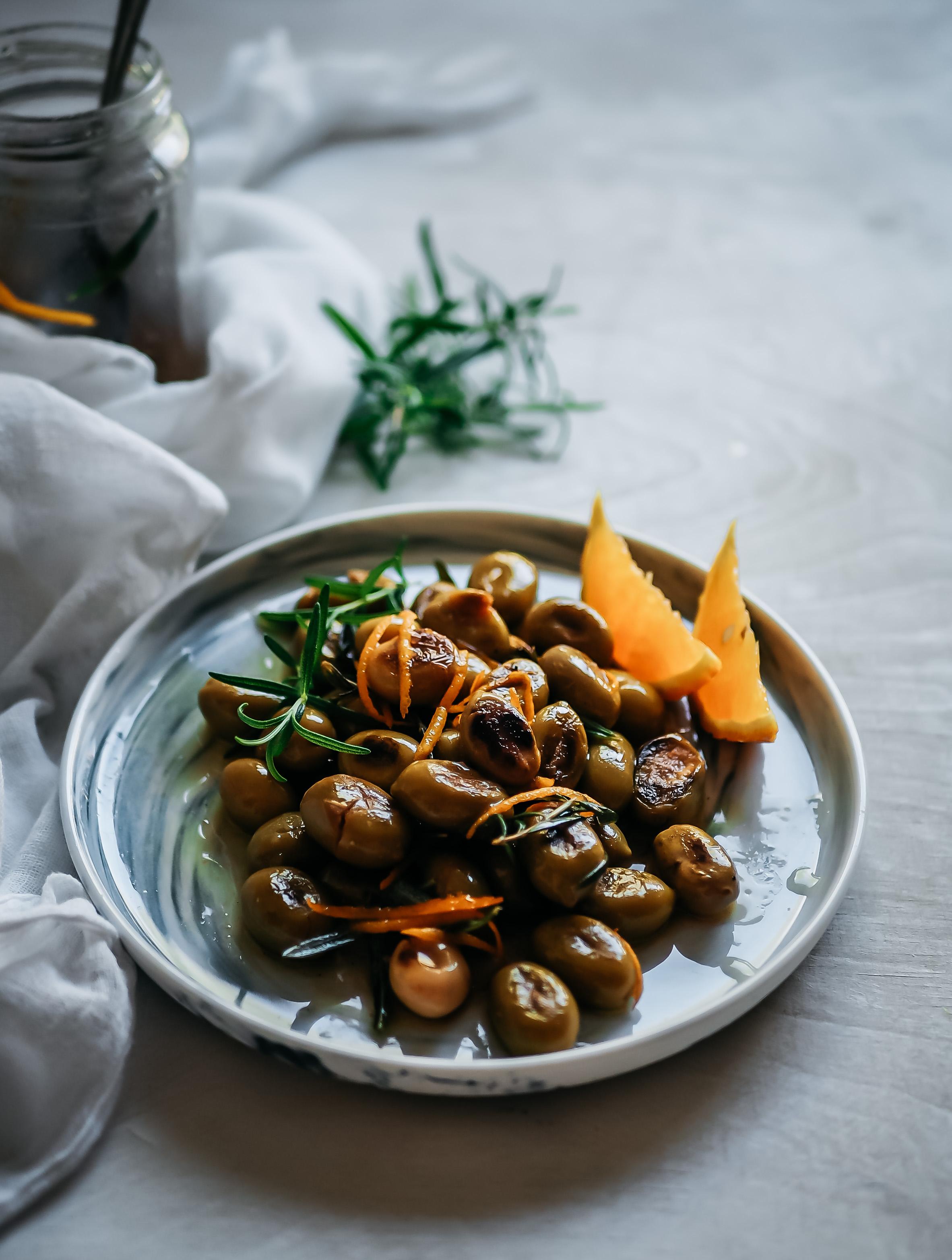 grillatut oliivit
