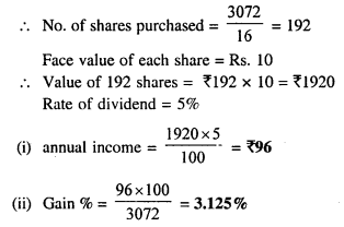 Selina Concise Mathematics Class 10 ICSE Solutions Chapter 3 Shares and Dividend Ex 3A 7