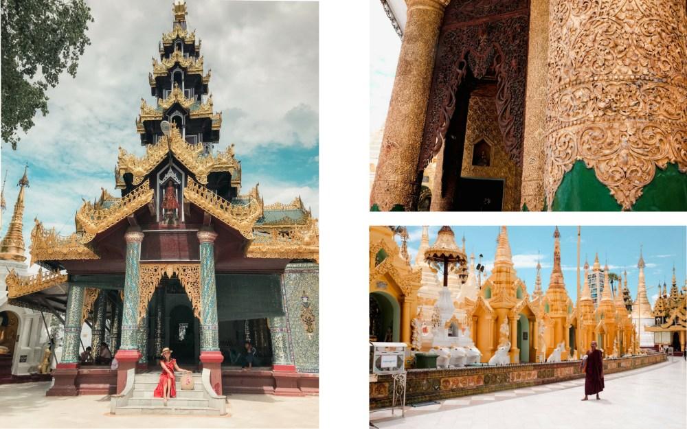 around shwedagon pagoda