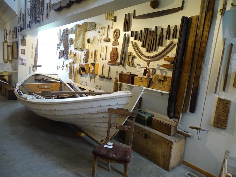 utensilios de navegar y pesca seccion pesca Museo Popular Folk de Skógar Islandia 06