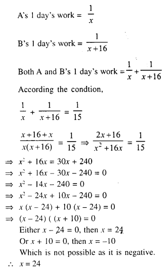Selina Concise Mathematics Class 10 ICSE Solutions Chapter 6 Solving Problems Ex 6A 15