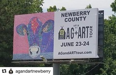 Support our neighbors to the west this weekend! #Repost @agandartnewberry with @get_repost ・・・ Spreading the word about @agandartnewberry all over town!! Quilt pattern courtesy of @jitterywings