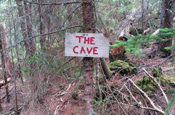 Bigelow Range Trail Cave Sign