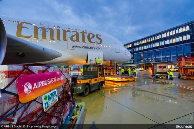 Emirates A380 Humanitarian Flight