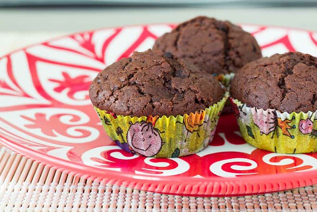 Muffins de chocolate y café