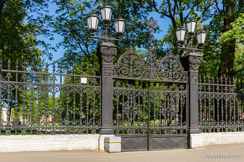Чугунная ограда Летнего сада, Кронштадт