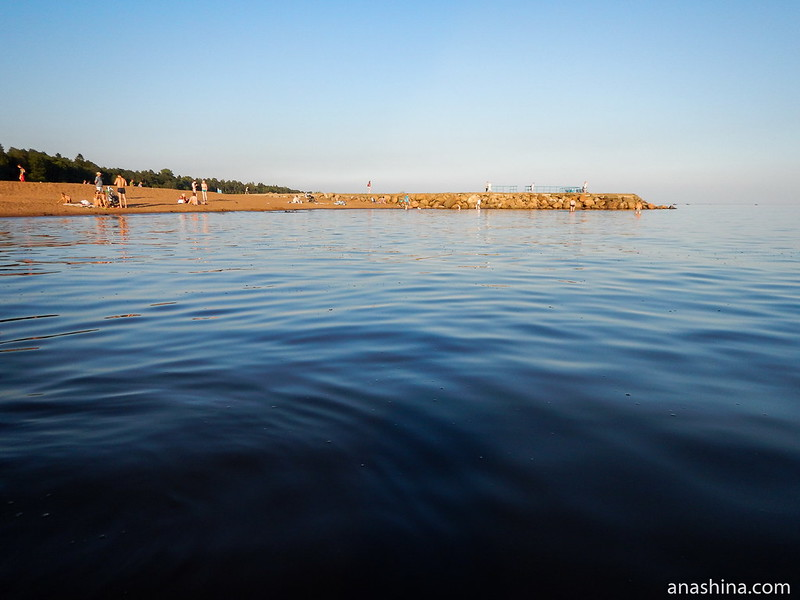 Балтийский берег в Зеленогорске, пирс