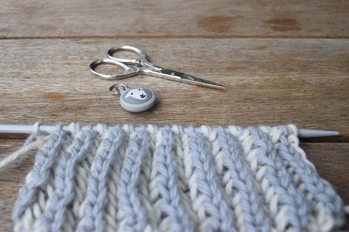 Brioche Knitting Sample