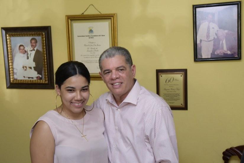 Visita Manuel Peña, La Vega 11 de agosto 2018