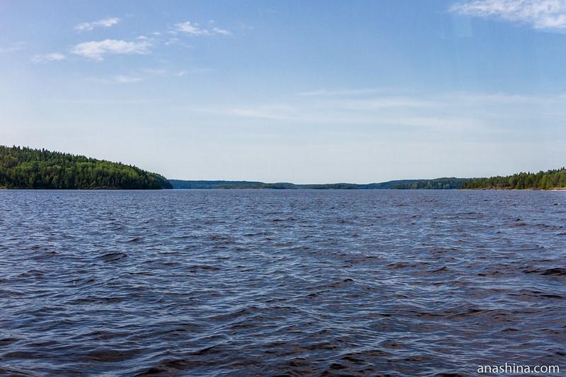 Панорама залива Тенкасаренселькя, Ладожское озеро