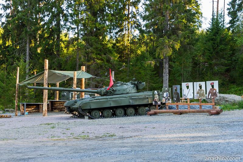 Танк Т-80, Гора Филина, Хуухканмяки, Лахденпохья