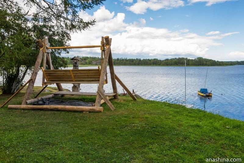 Лавочка для релаксации, Ладожское озеро, Берёзово