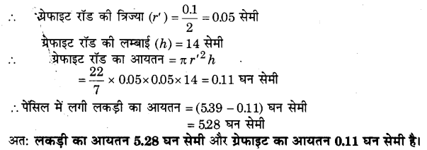 NCERT Solutions for Class 9 Maths Chapter 13 Surface Areas and Volumes (Hindi Medium) 13.6 7.1