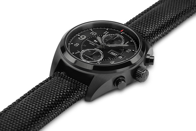 H71626735 Khaki Field Auto Chrono Detail 1