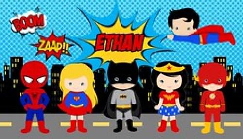 Superhero Boy Girl