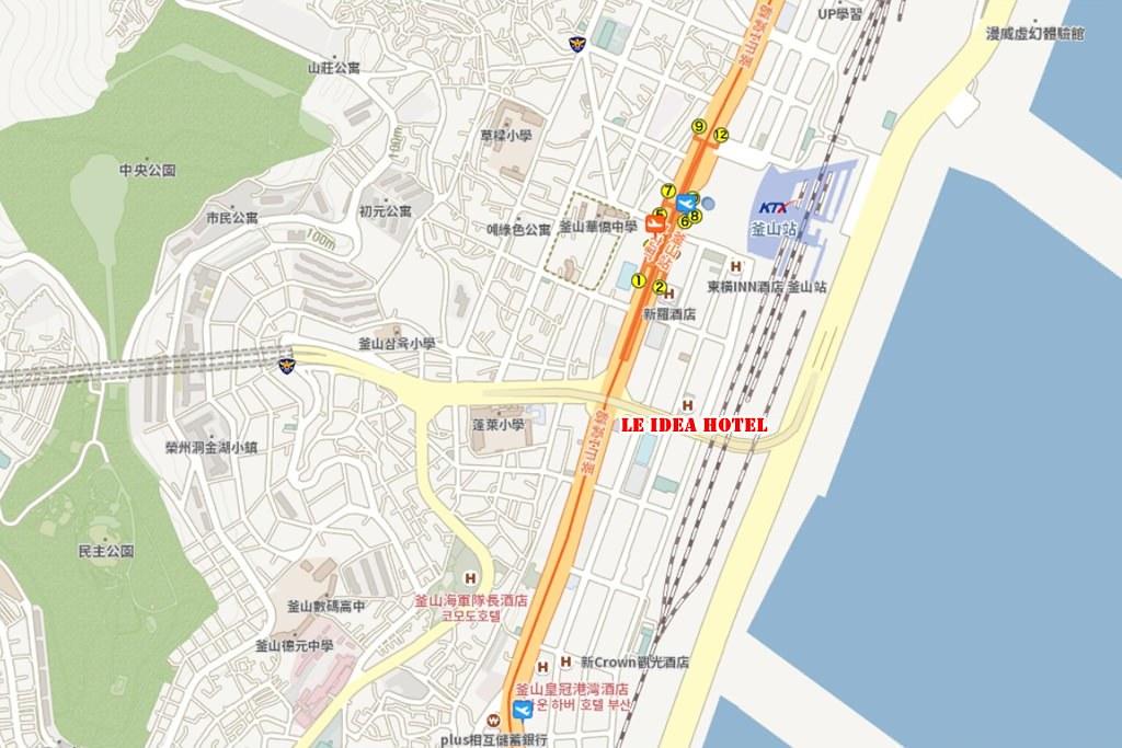 Le Idea Hotel Busan Station Map