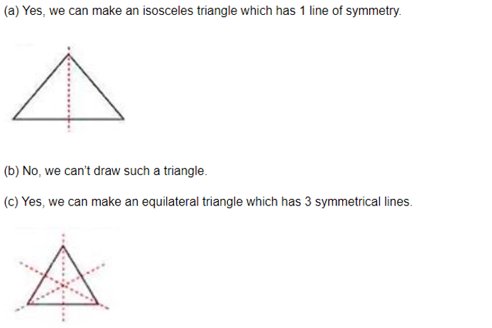 ML Aggarwal ICSE Solutions for Class 6 Maths Chapter 12 Symmetry Ex 12.1 Solution 07 i
