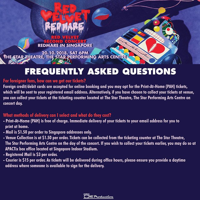 Red Velvet 'REDMARE' Concert in Singapore FAQ03