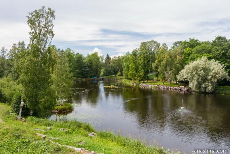 Река Вуокса между Старой и Новой крепостями, крепость Корела в Приозерске