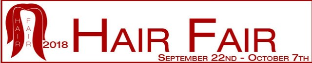 Hair Fair Opens September 22nd... get your lindens out for a really great cause and be sure to purchase your bandana too!