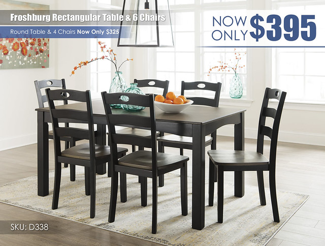 Froshburg Rectangular Table & 6 Chairs_D338-425