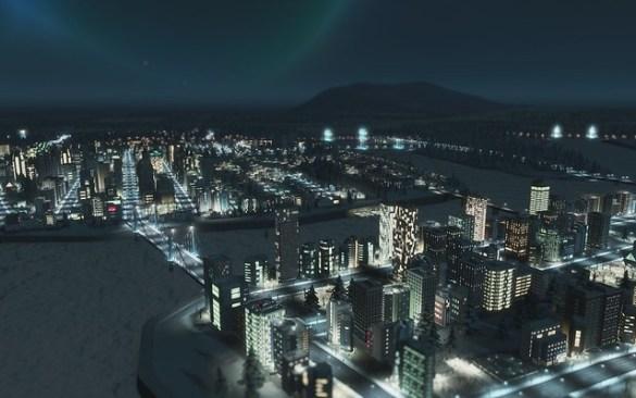 Cities Skylines - Night Time City