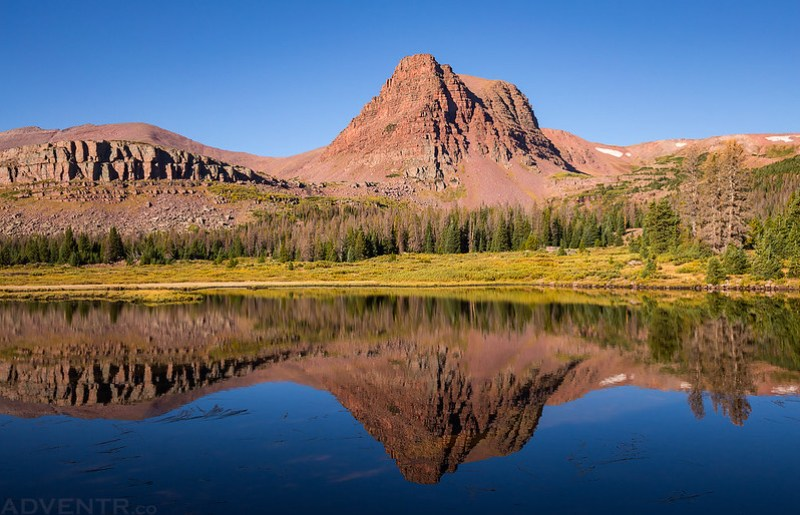Flat Top Mountain Reflection