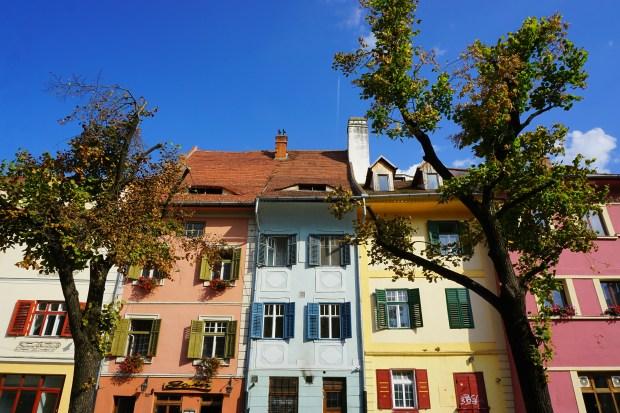 Houses in Albert Huet Square, Sibiu