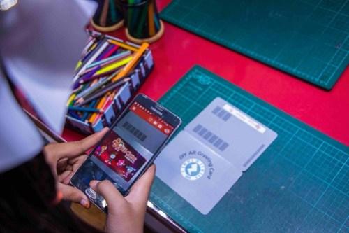 IMAGE 4 - Create your own Agumented Reality Greeting Card at KidZania Kuala Lumpur 'KidZ & Tech 3.0' Programme