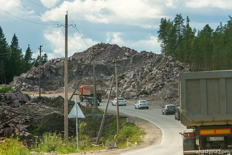 Гора щебня