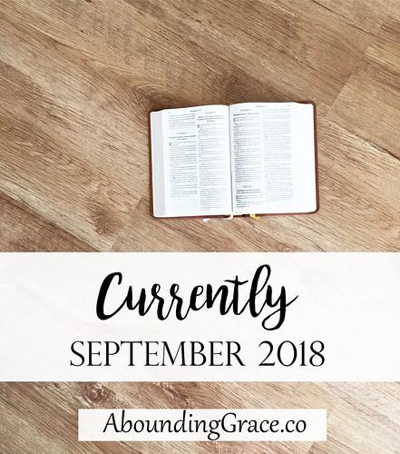 Currently September 2018