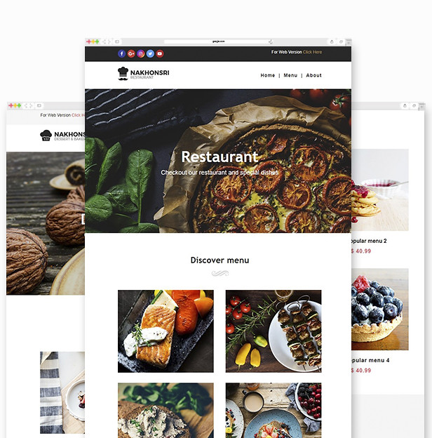 Nakhonsri - Responsive Restaurant & Food Email Template - 1