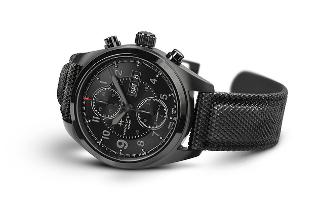 H71626735 Khaki Field Auto Chrono Detail 2