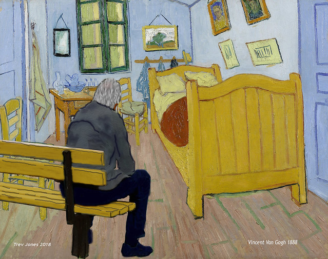 Benchman visits famous paintings