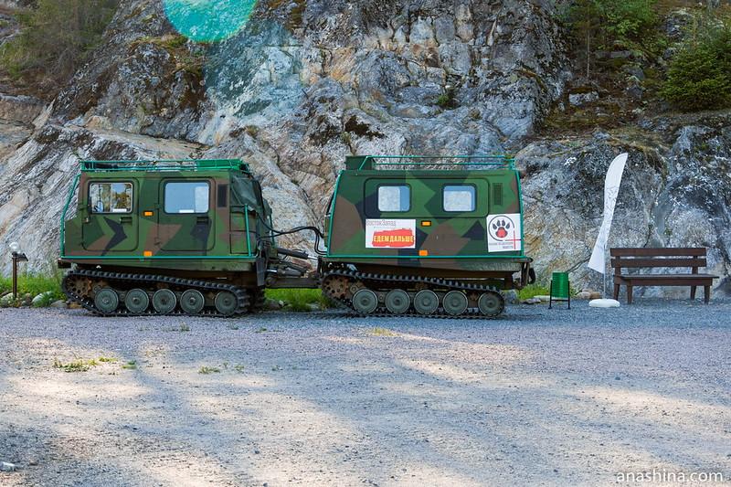 Гусеничный двухсекционный вездеход Bandvagn 206