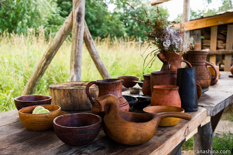 Кухонная утварь, Музей живой истории Бьоркагард, Берёзово