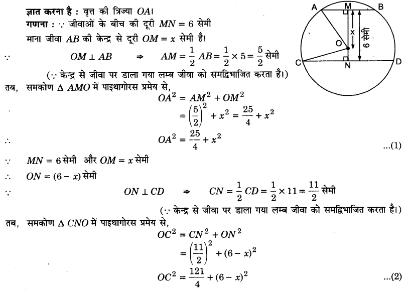 UP Board Solutions for Class 9 Maths Chapter 10 Circle 10.6 2