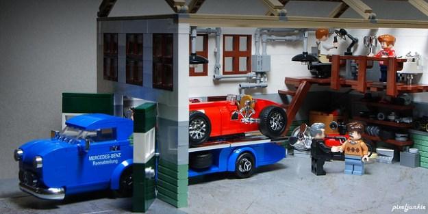 "1954 Mercedes Benz Race Car Transporter ""Blue Wonder"""